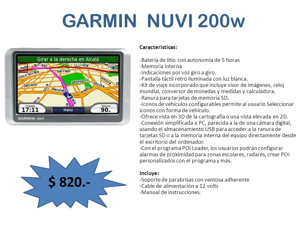 GARMIN NUVI 200w