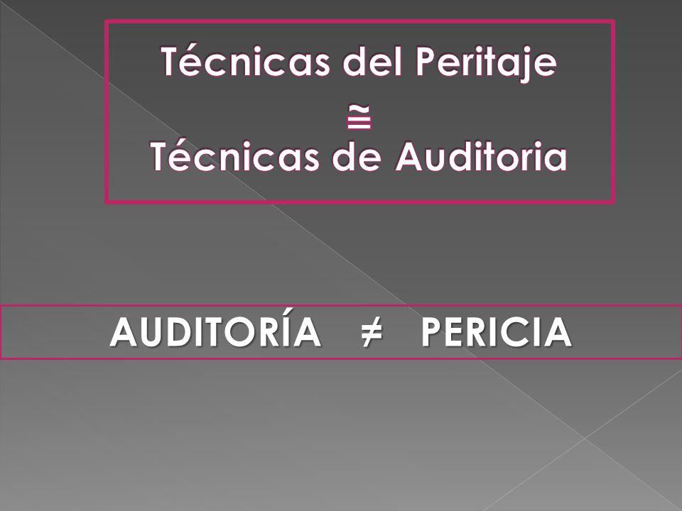 Técnicas del Peritaje ~ Técnicas de Auditoria