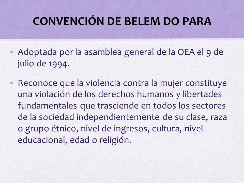 CONVENCIÓN DE BELEM DO PARA