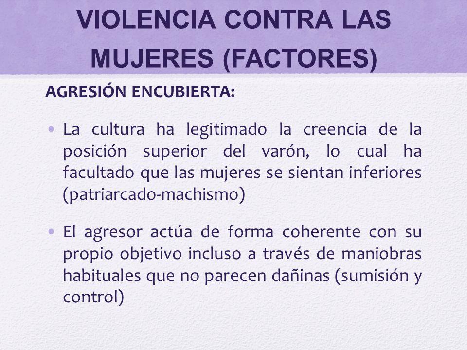 VIOLENCIA CONTRA LAS MUJERES (FACTORES)