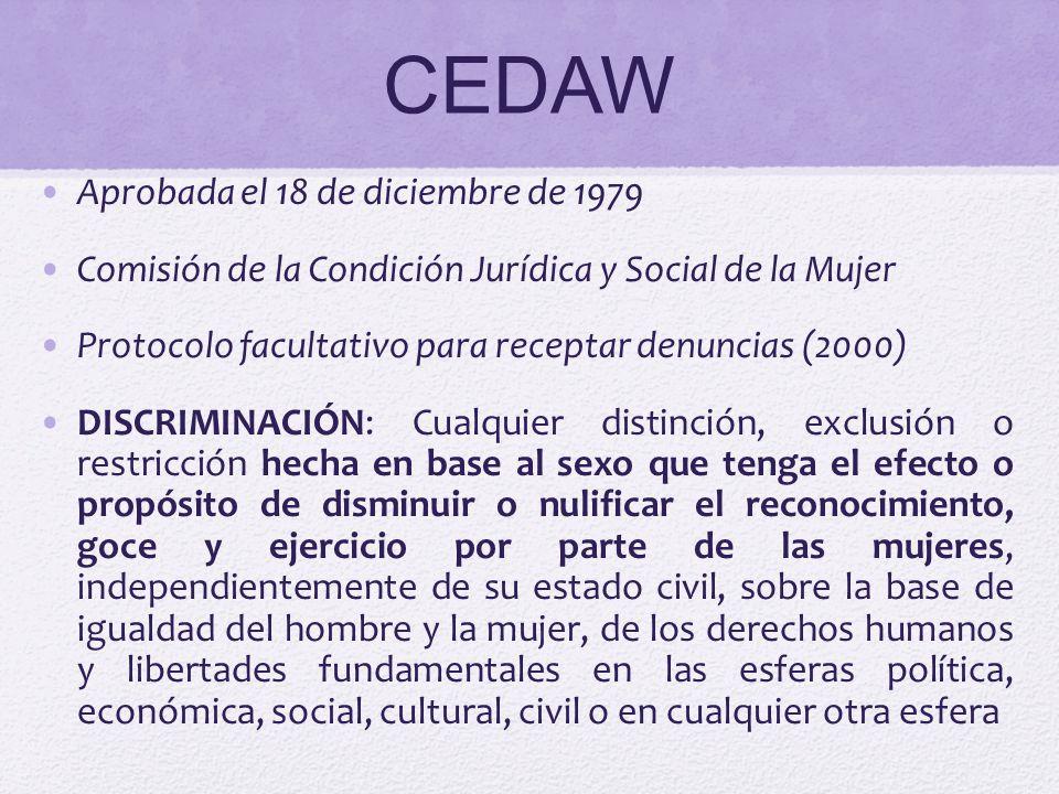 CEDAW Aprobada el 18 de diciembre de 1979