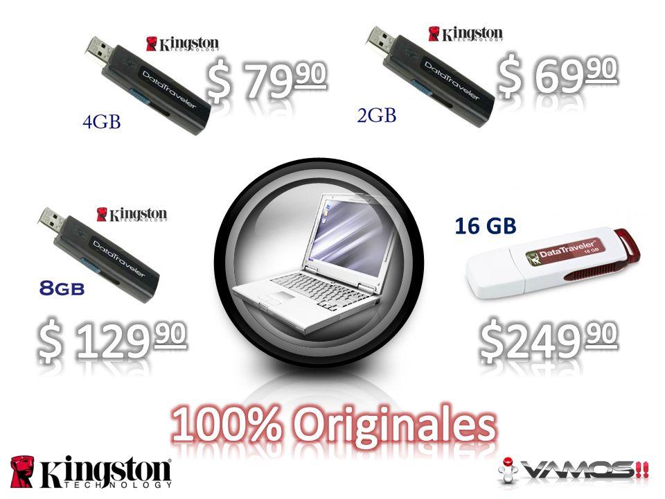 $ 69 $ 79 90 90 16 GB $ 129 $249 90 90 100% Originales