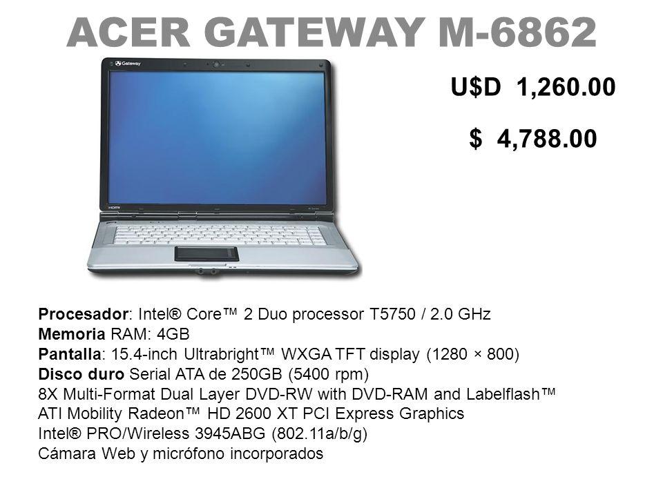 ACER GATEWAY M-6862U$D 1,260.00. $ 4,788.00.