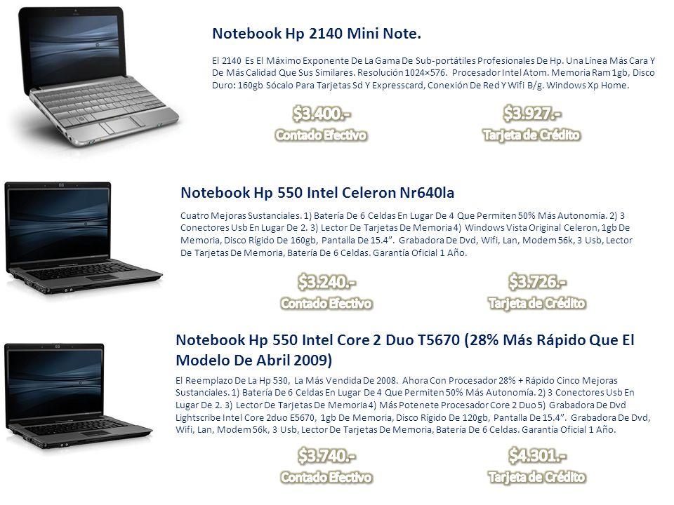 Notebook Hp 550 Intel Celeron Nr640la