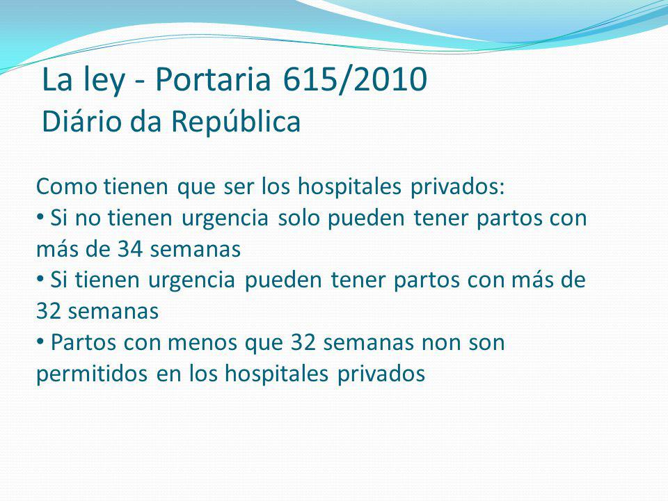 La ley - Portaria 615/2010 Diário da República