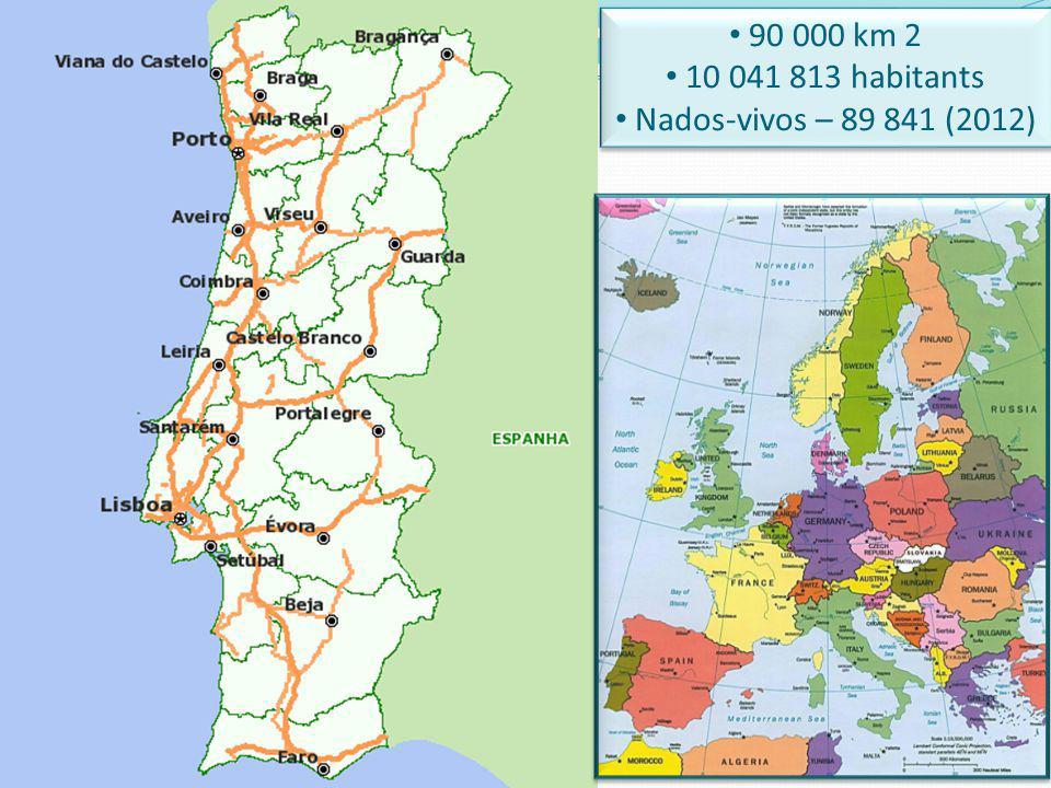 90 000 km 2 10 041 813 habitants Nados-vivos – 89 841 (2012)