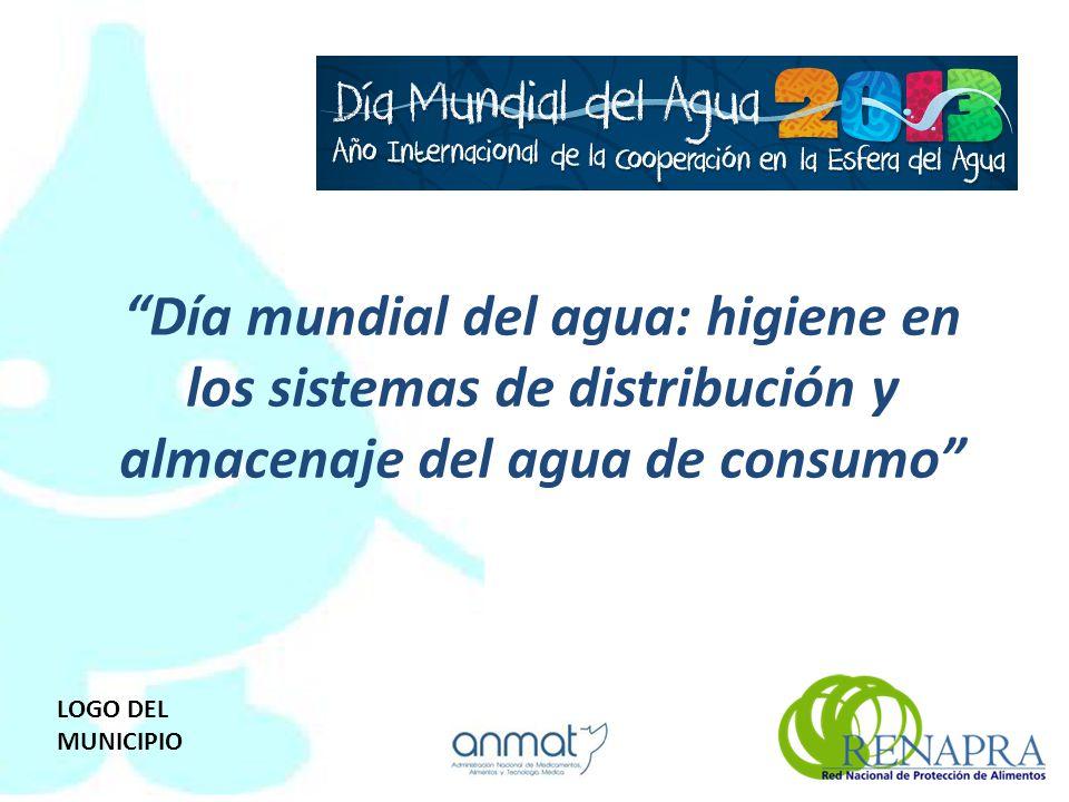Día mundial del agua: higiene en los sistemas de distribución y almacenaje del agua de consumo