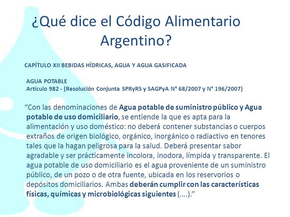 ¿Qué dice el Código Alimentario Argentino