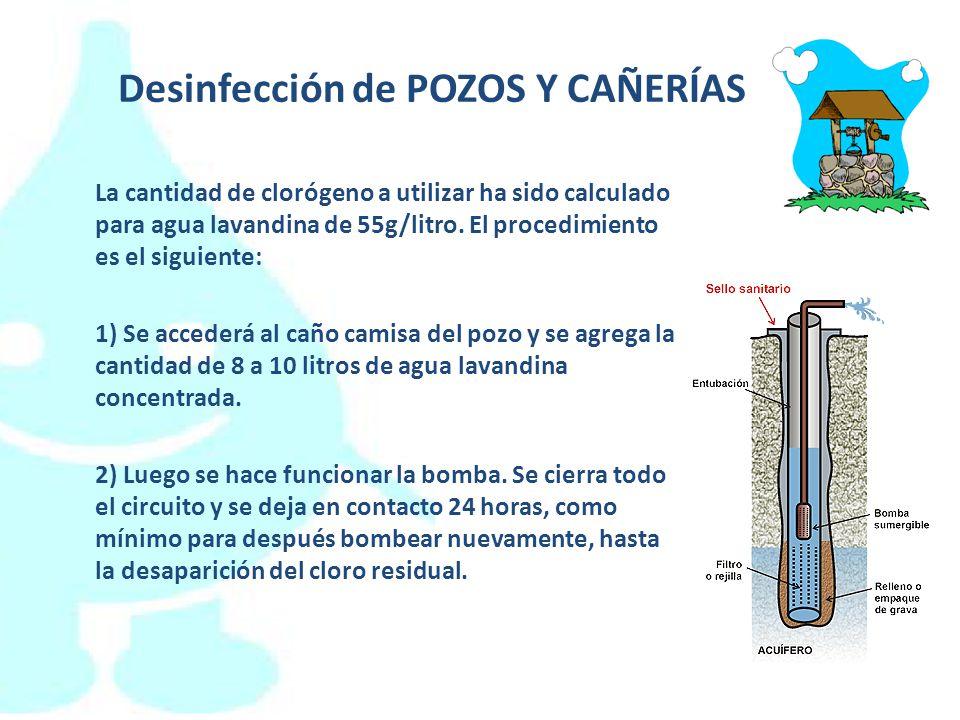 Desinfección de POZOS Y CAÑERÍAS