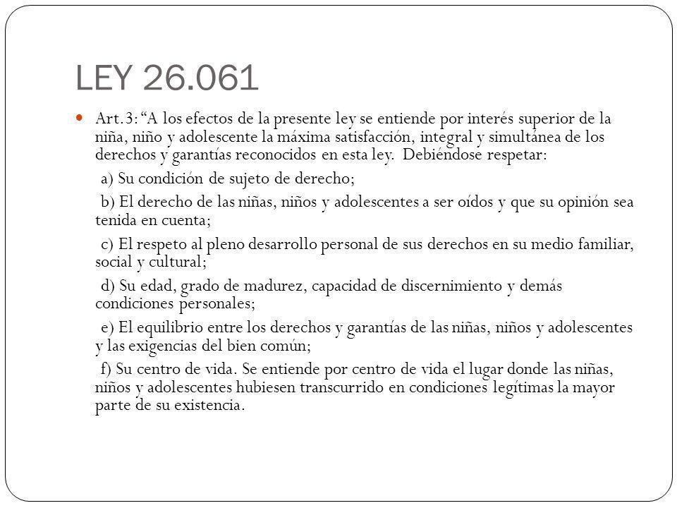 LEY 26.061