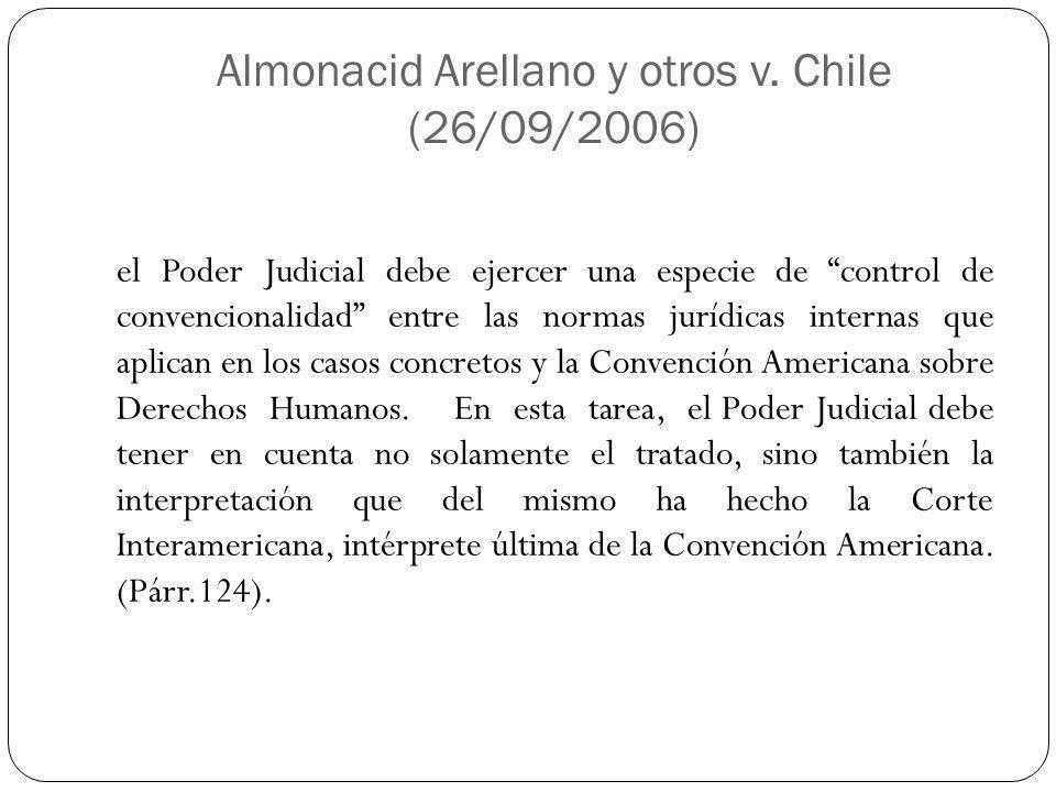 Almonacid Arellano y otros v. Chile (26/09/2006)