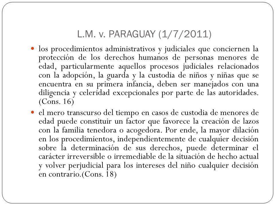 L.M. v. PARAGUAY (1/7/2011)