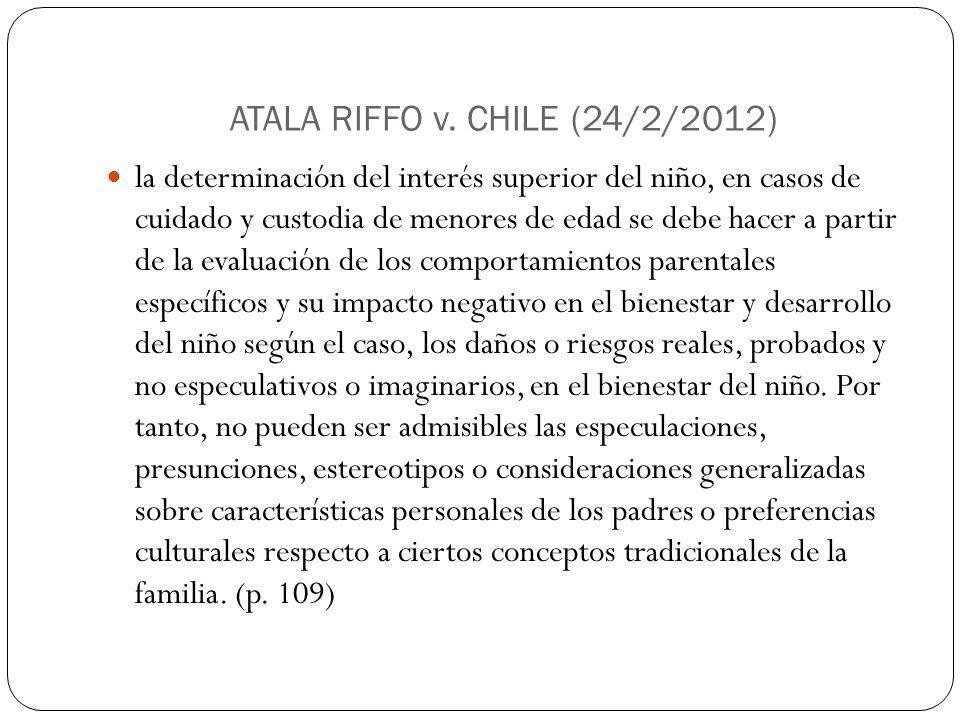 ATALA RIFFO v. CHILE (24/2/2012)