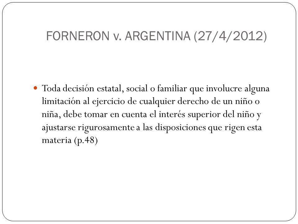 FORNERON v. ARGENTINA (27/4/2012)