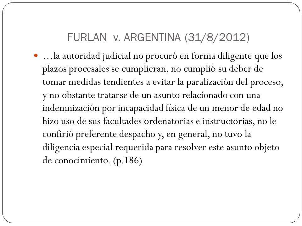FURLAN v. ARGENTINA (31/8/2012)
