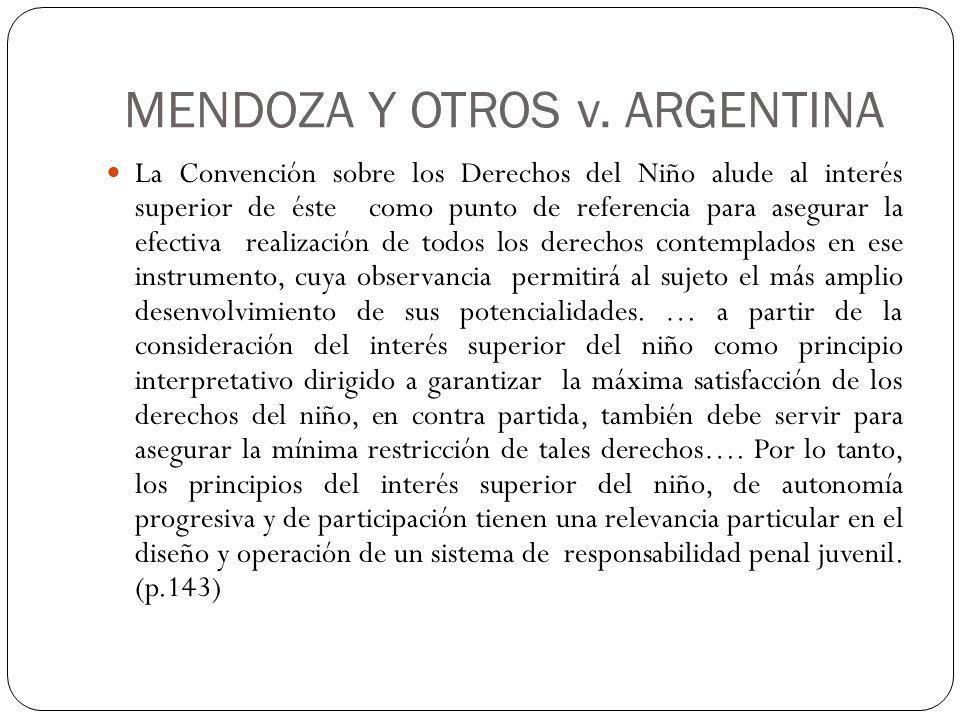 MENDOZA Y OTROS v. ARGENTINA
