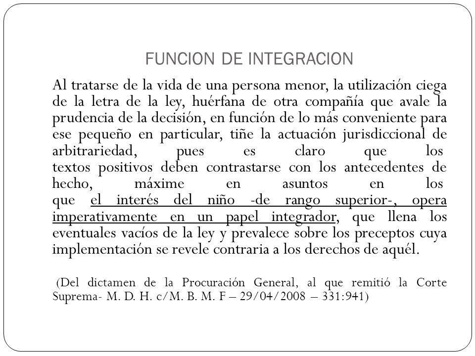 FUNCION DE INTEGRACION