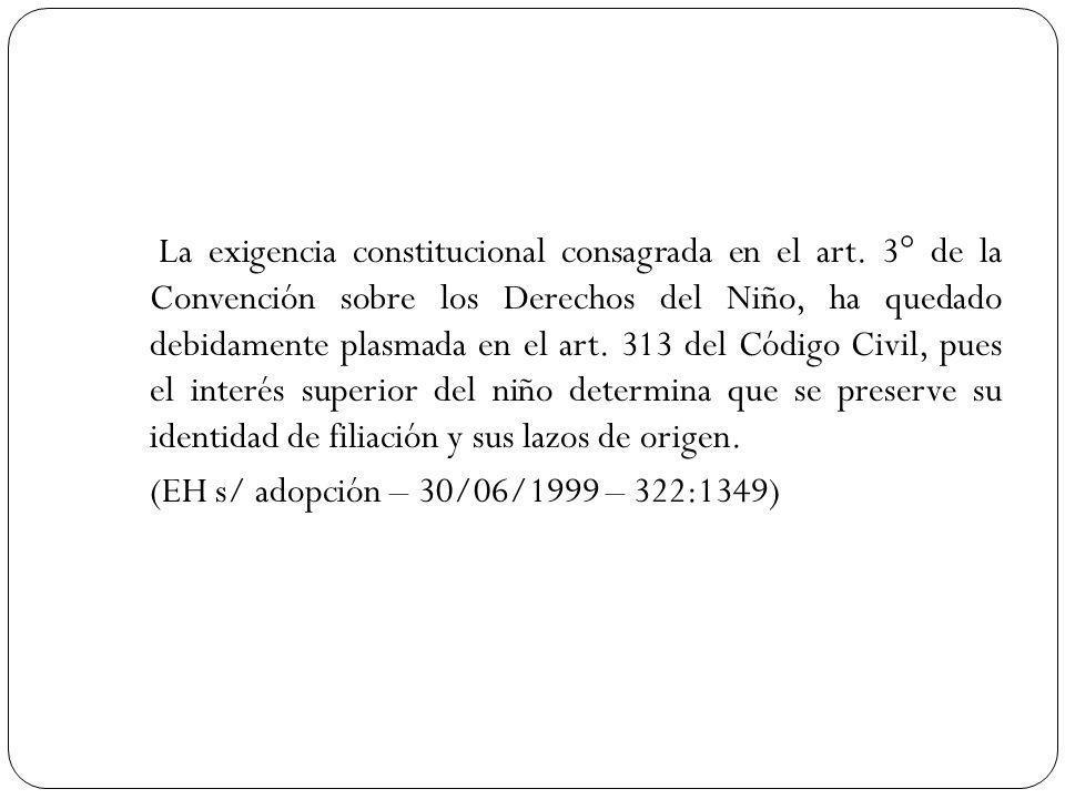 La exigencia constitucional consagrada en el art