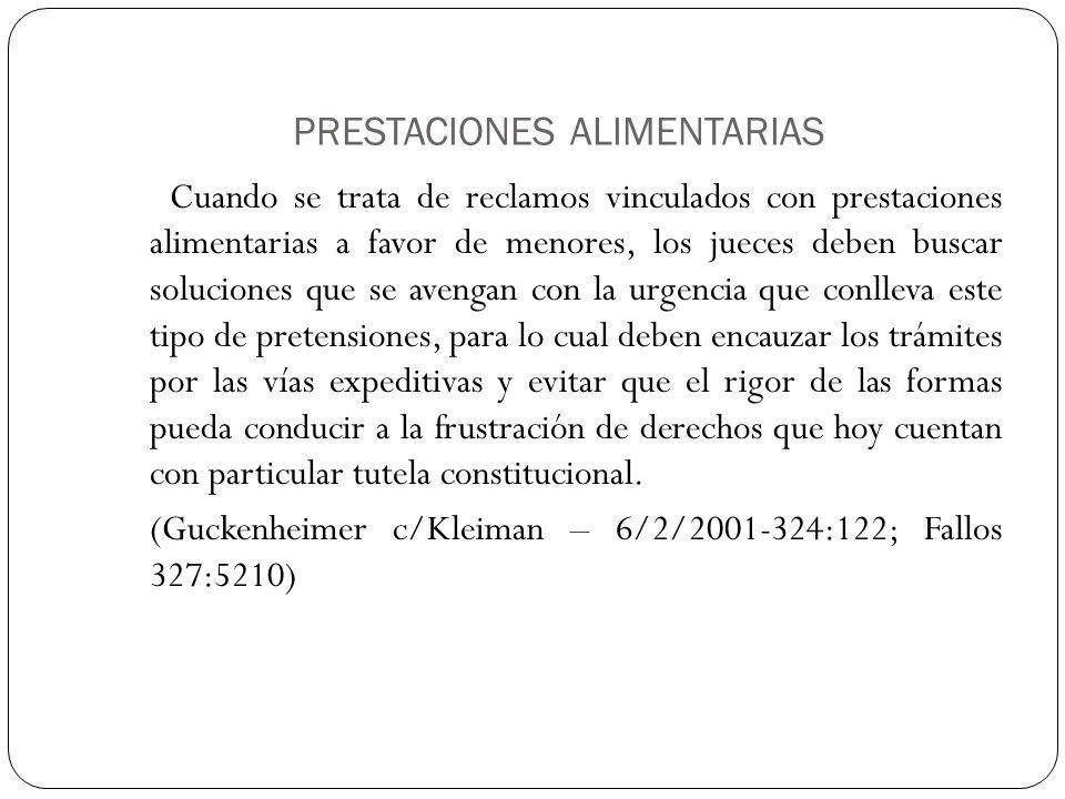 PRESTACIONES ALIMENTARIAS