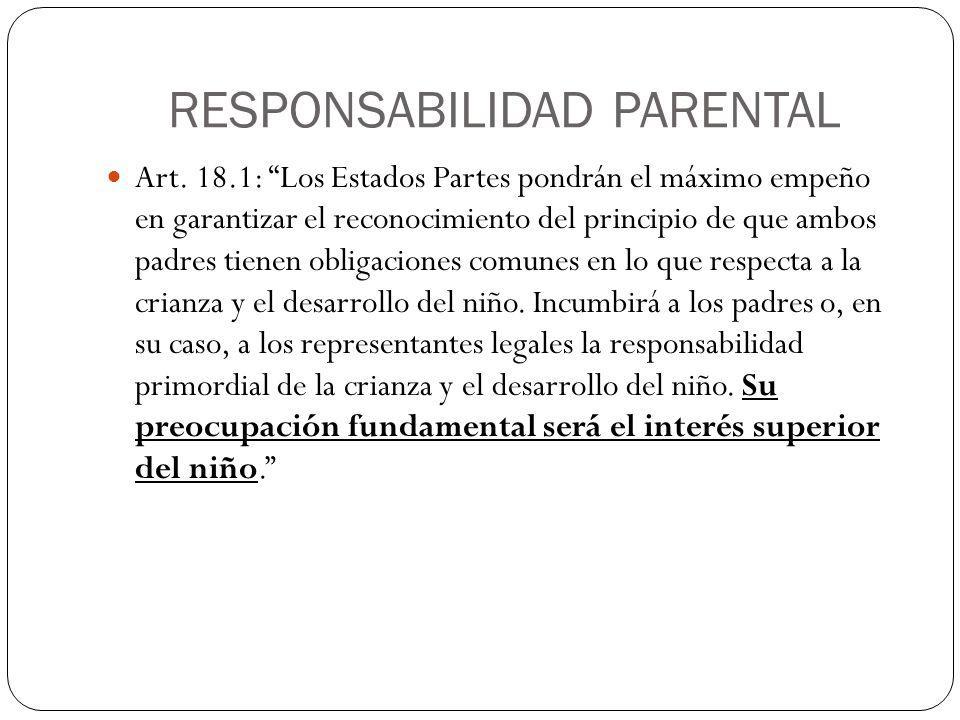 RESPONSABILIDAD PARENTAL