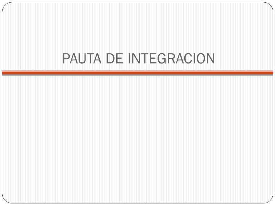 PAUTA DE INTEGRACION