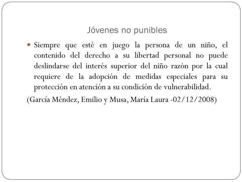 Jóvenes no punibles
