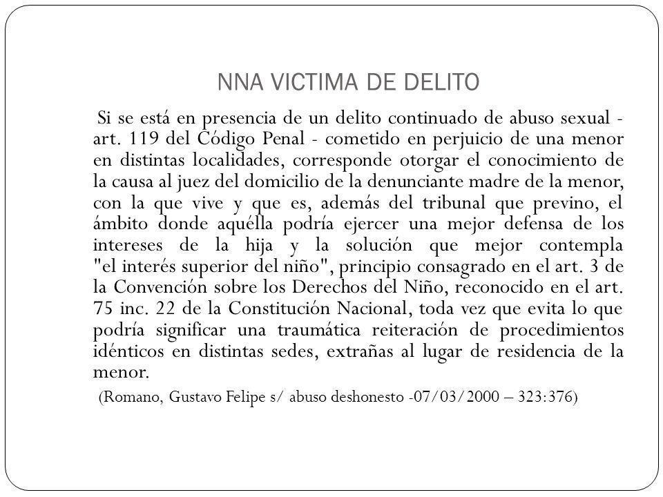 NNA VICTIMA DE DELITO