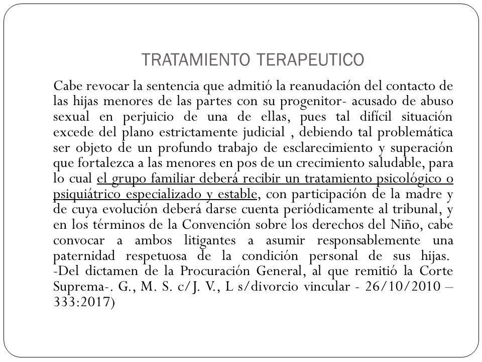 TRATAMIENTO TERAPEUTICO