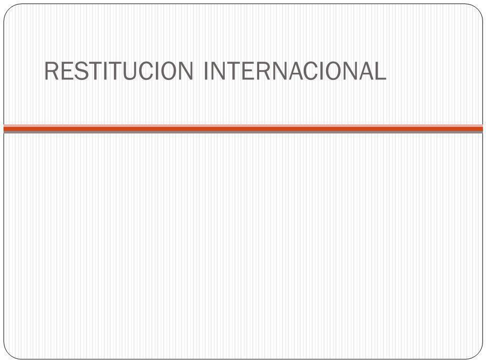 RESTITUCION INTERNACIONAL