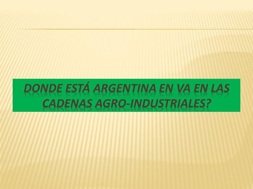 Donde está Argentina en VA en las cadenas agro-industriales
