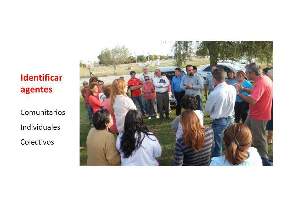 Identificar agentes Comunitarios Individuales Colectivos