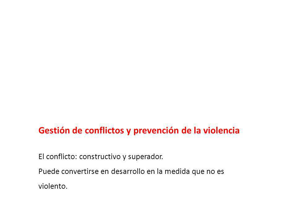 Gestión de conflictos y prevención de la violencia