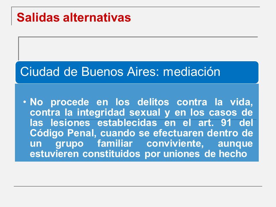 Salidas alternativas Ciudad de Buenos Aires: mediación.