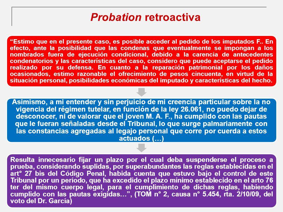 Probation retroactiva
