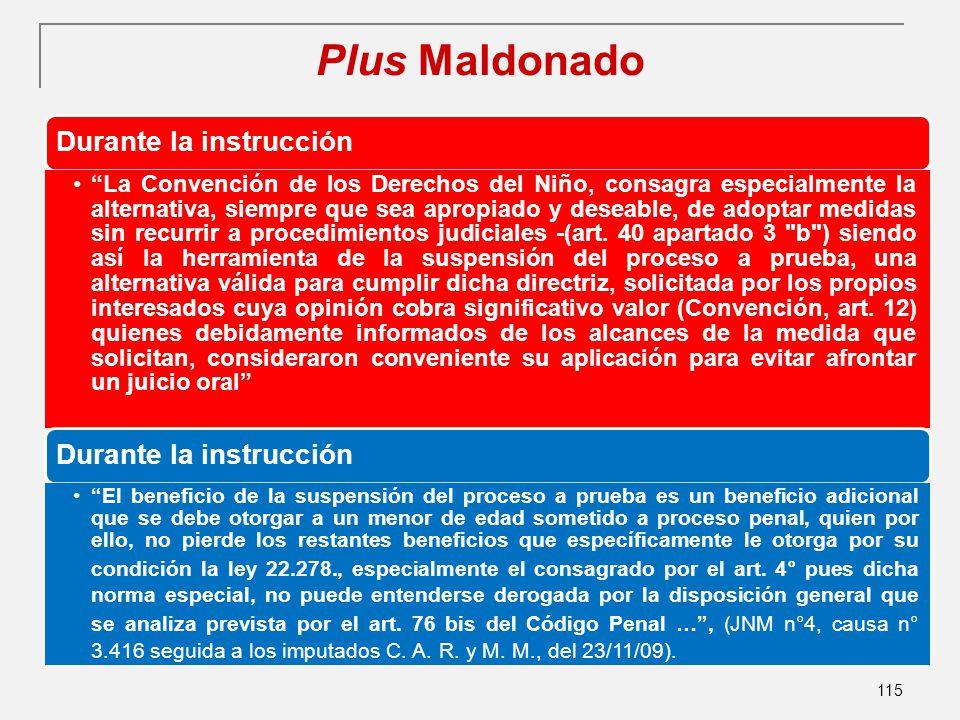 Plus Maldonado Durante la instrucción