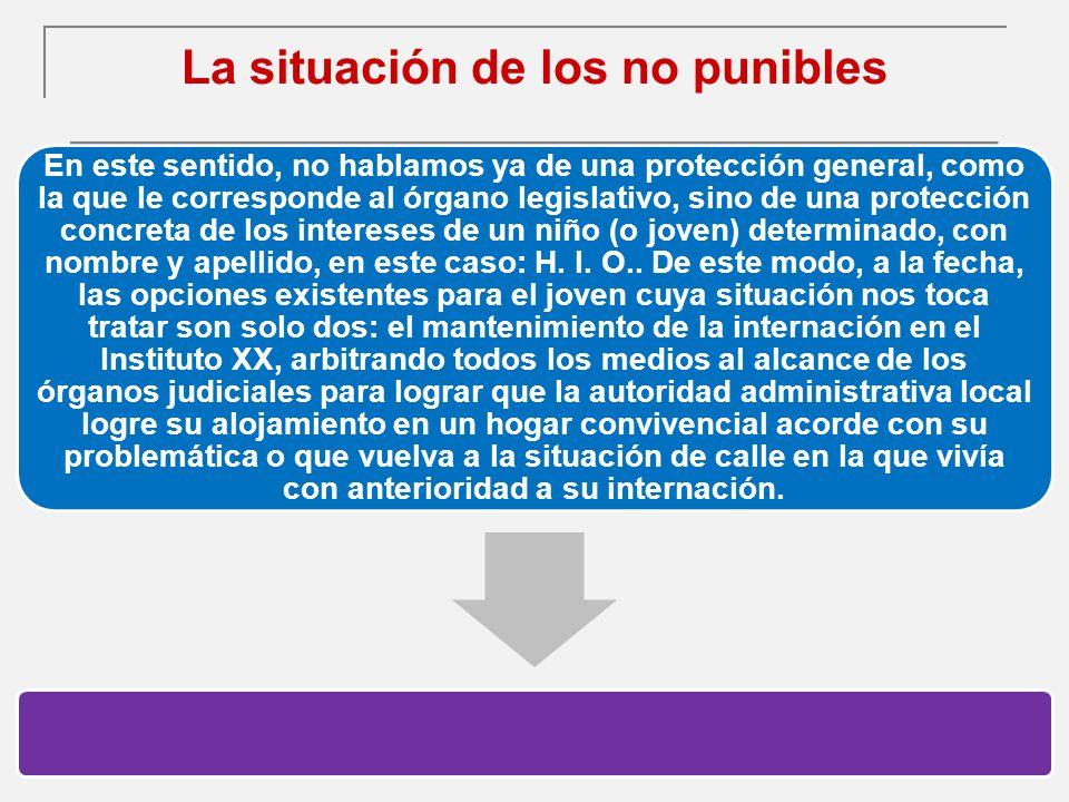 La situación de los no punibles