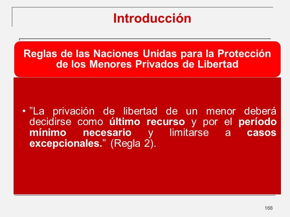 Introducción Reglas de las Naciones Unidas para la Protección de los Menores Privados de Libertad.