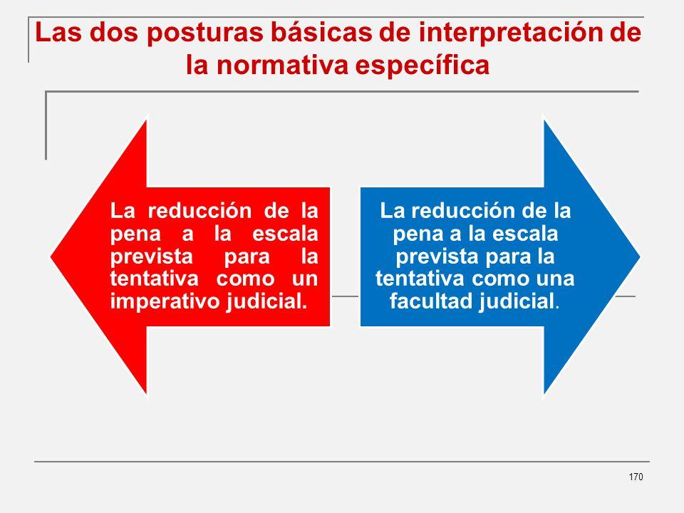 Las dos posturas básicas de interpretación de la normativa específica