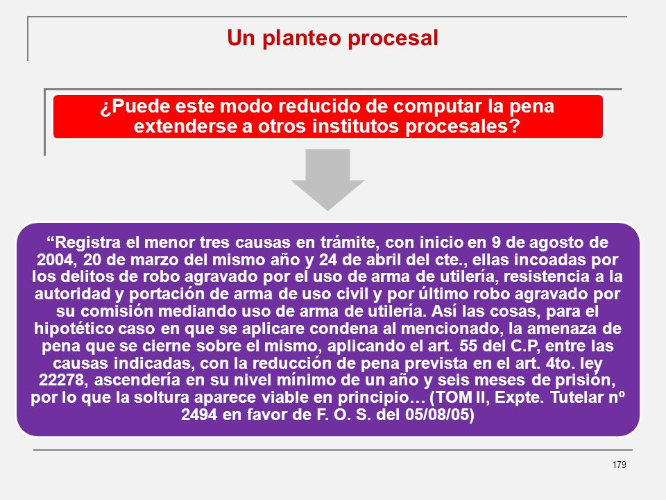 Un planteo procesal ¿Puede este modo reducido de computar la pena extenderse a otros institutos procesales