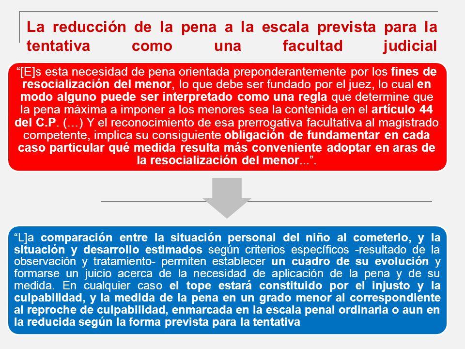 La reducción de la pena a la escala prevista para la tentativa como una facultad judicial