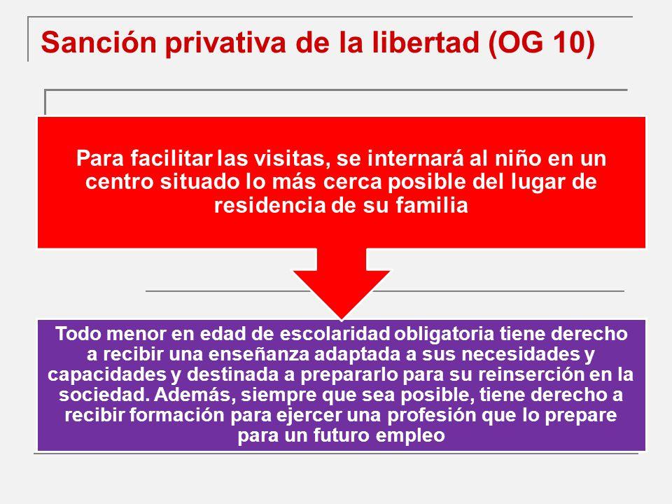 Sanción privativa de la libertad (OG 10)