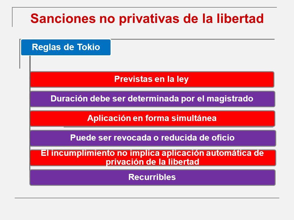 Sanciones no privativas de la libertad