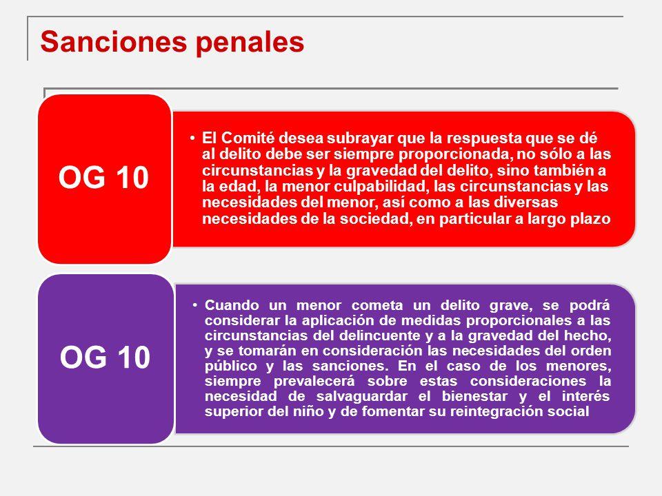 Sanciones penales OG 10.