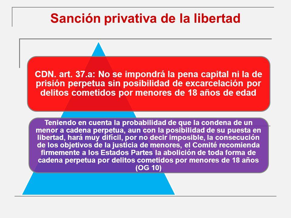 Sanción privativa de la libertad