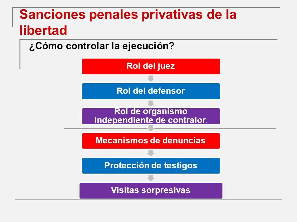 Sanciones penales privativas de la libertad