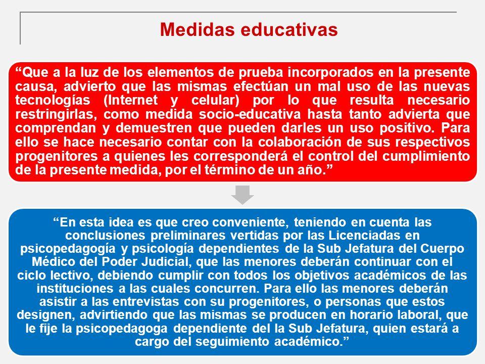 Medidas educativas