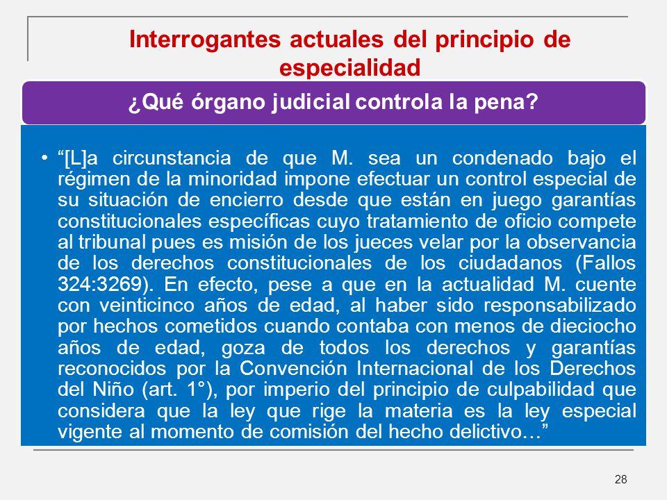 Interrogantes actuales del principio de especialidad