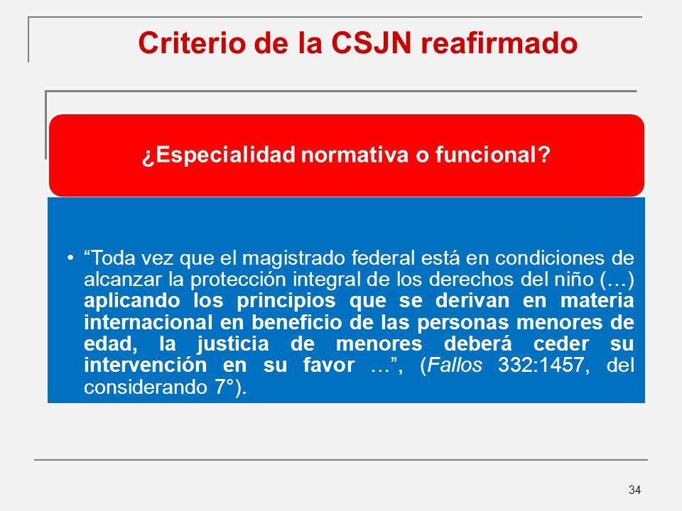 Criterio de la CSJN reafirmado