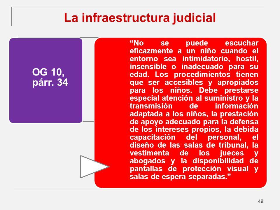 La infraestructura judicial