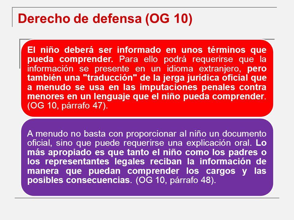 Derecho de defensa (OG 10)